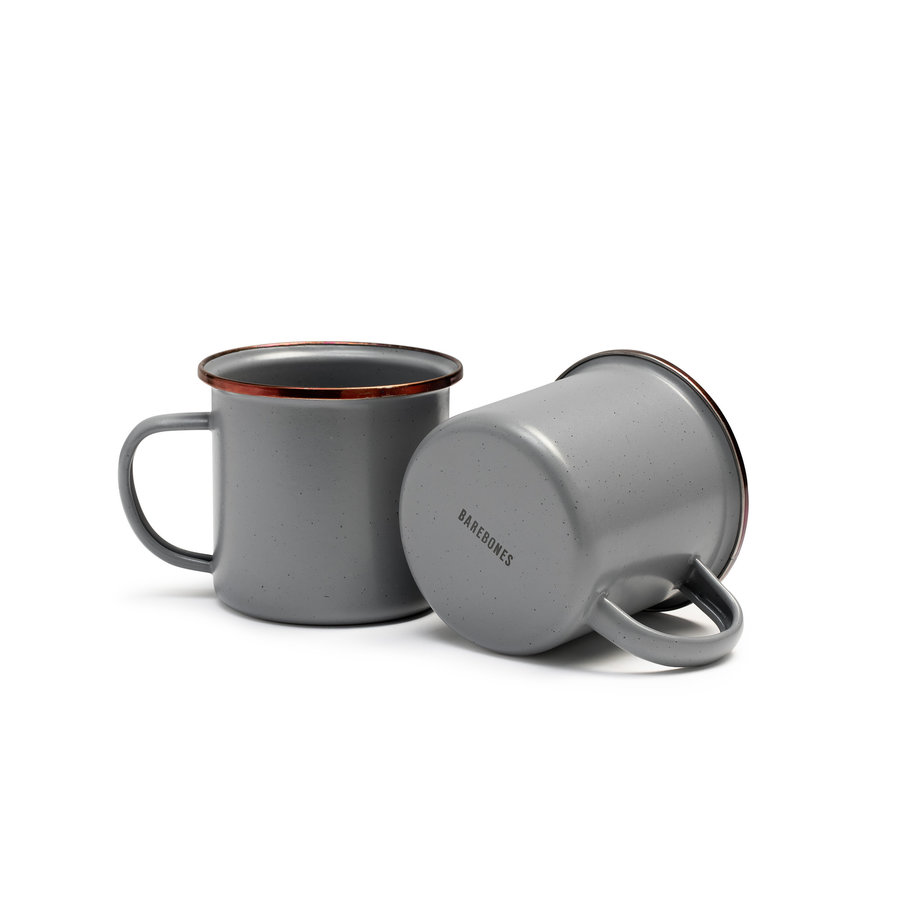 Barebones Emaille Cup 2 pcs. Stone Grey-3