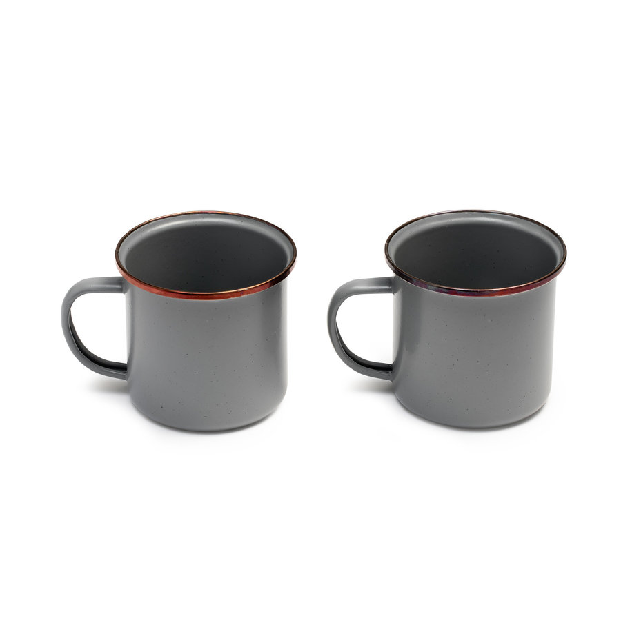 Barebones Emaille Cup 2 pcs. Stone Grey-9
