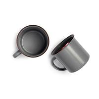 thumb-Barebones Emaille Cup 2 pcs. Stone Grey-10