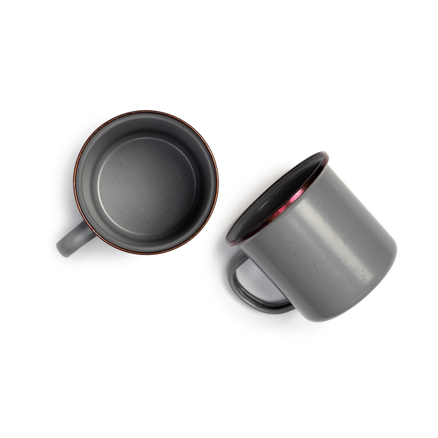 Barebones Emaille Cup 2 pcs. Stone Grey-10