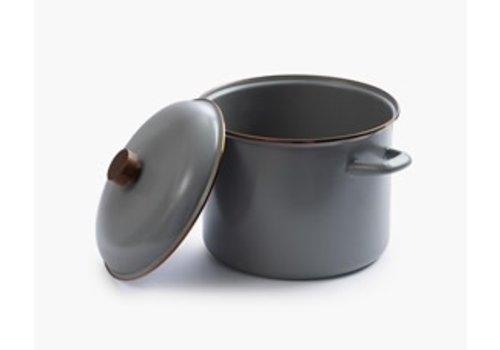 Barebones Emaille Stock Pot Stone Grey