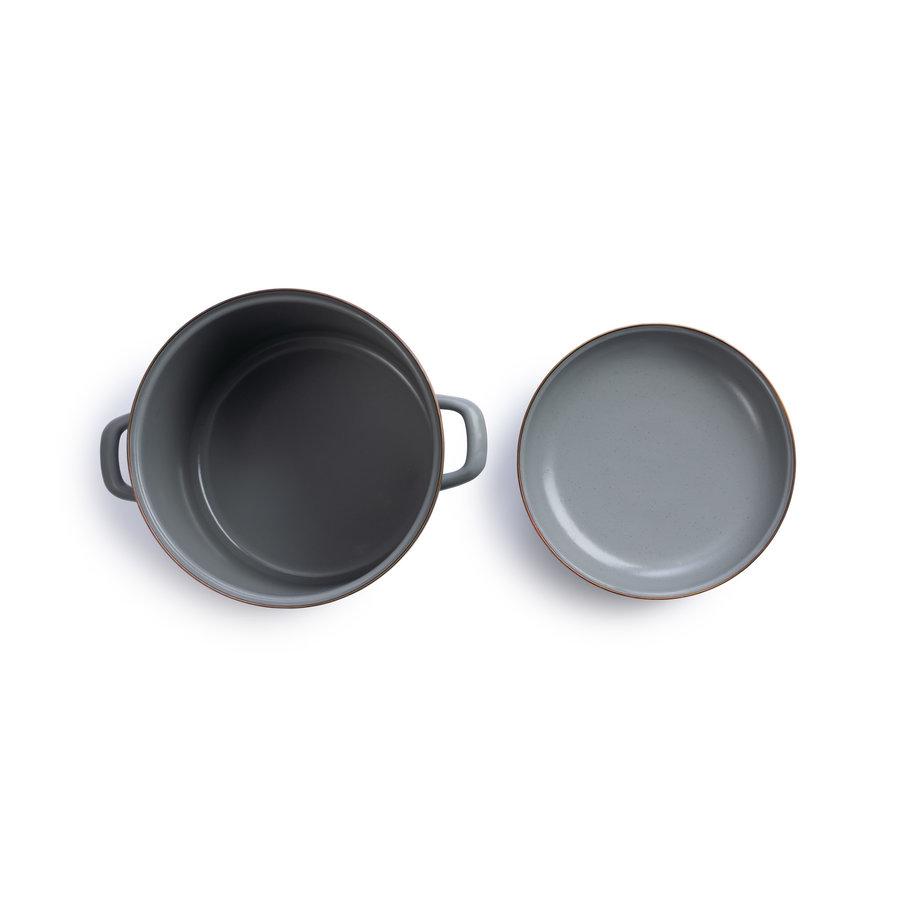 Barebones Emaille Stock Pot Stone Grey-2