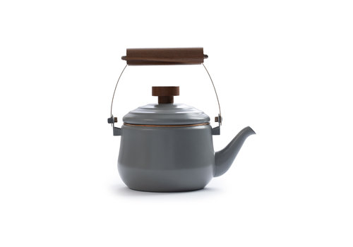 Barebones Emaille Teapot Stone Grey