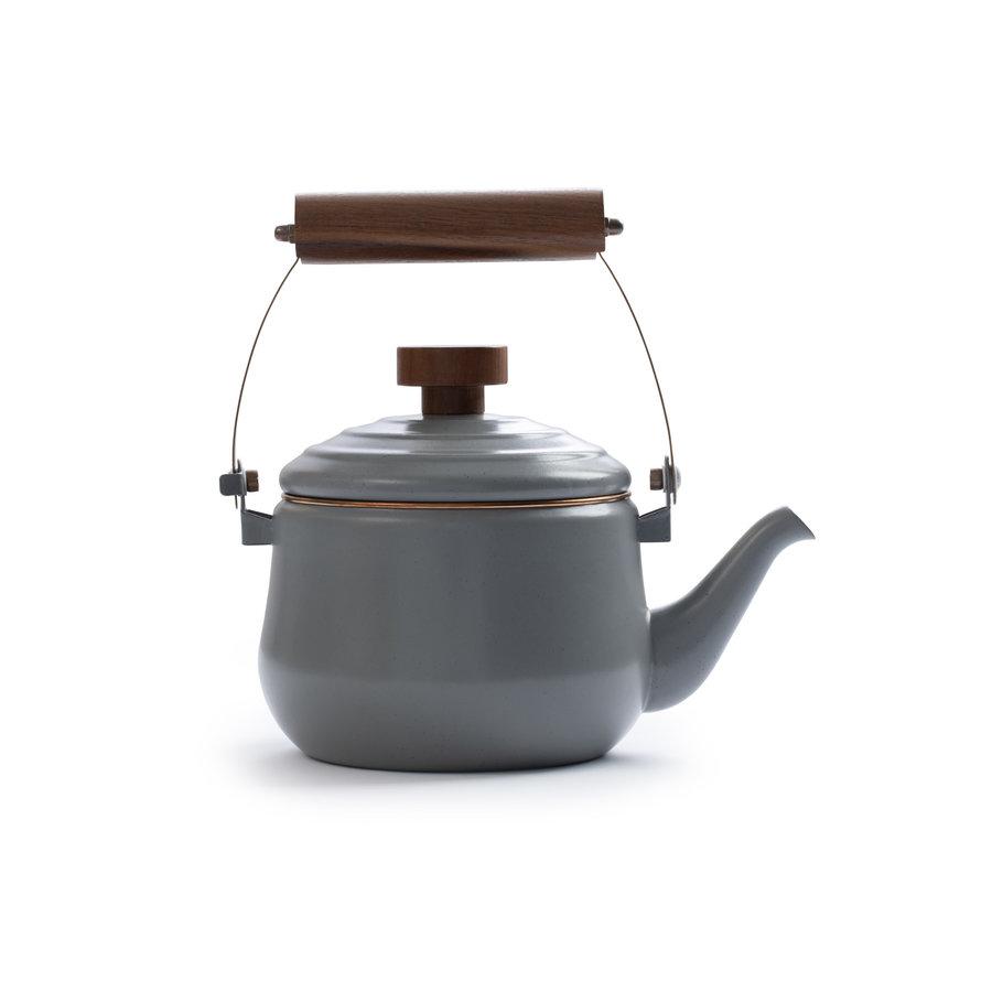 Barebones Emaille Teapot Stone Grey-1