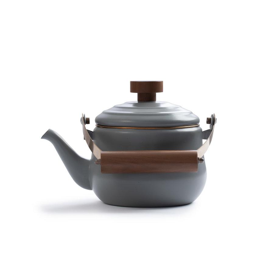 Barebones Emaille Teapot Stone Grey-2