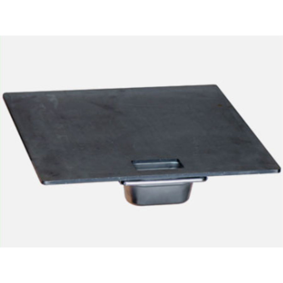 Afrikaanse Braai Steak Plate & Drip Tray 50 cm-1