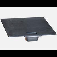thumb-Afrikaanse Braai Steak Plate & Drip Tray 60 cm-1