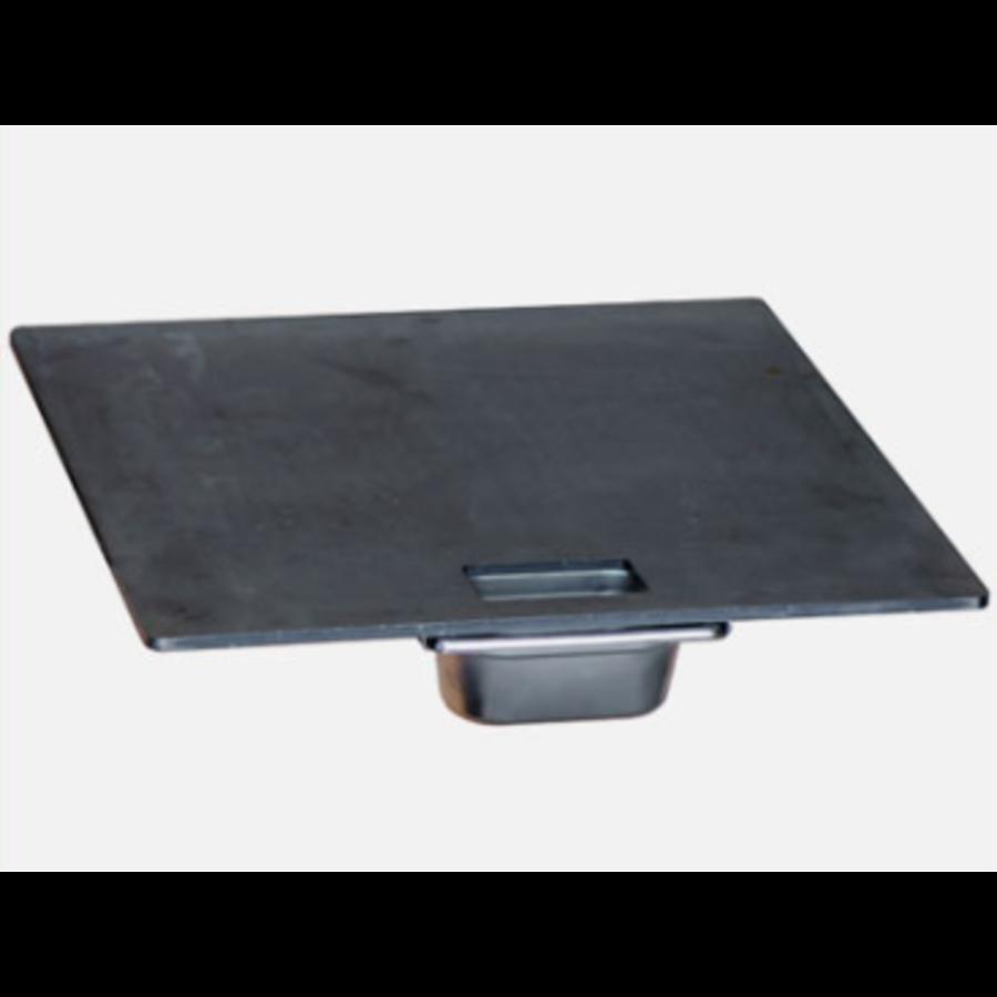 Afrikaanse Braai Steak Plate & Drip Tray 60 cm-1