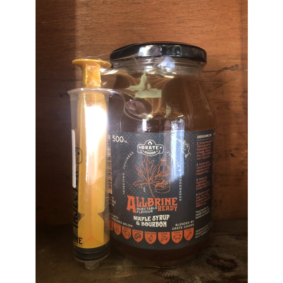 AllBrine Ready Maple Syrup & Bourbon- incl. injector-1