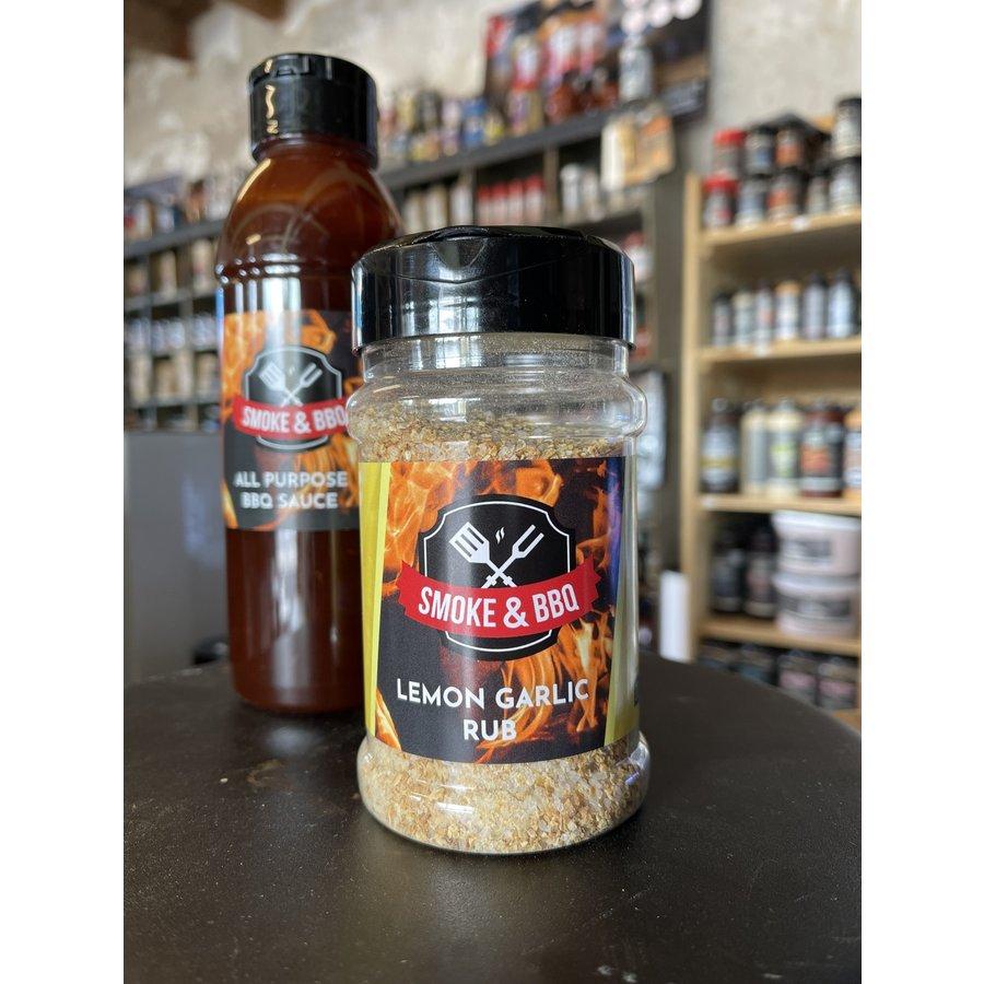 Combi-Deal Smoke & BBQ All Purpose BBQ Sauce & Lemon Garlic Rub-1