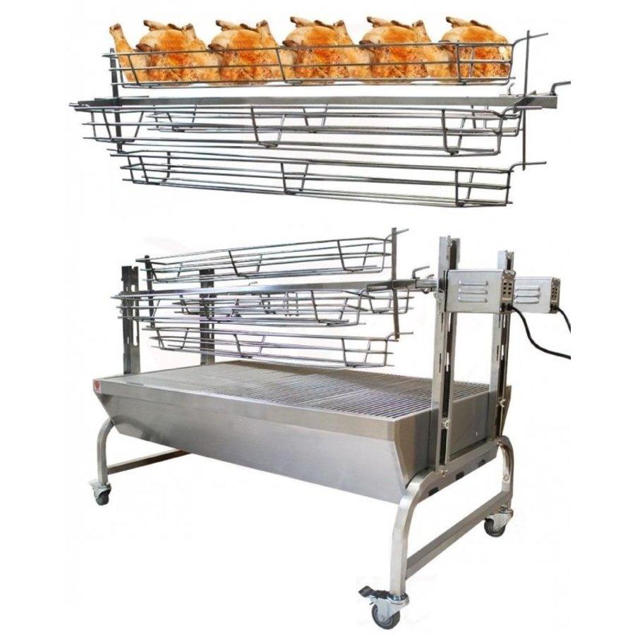 Kippenspit voor 'Varken & lam aan het spit grill / barbecue'-2