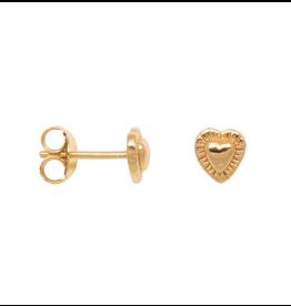 Eline Rosina Detailed hart earrings gold