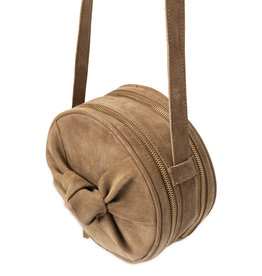 YaYa 131336-921 Suede round bag with knot