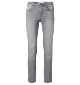 YaYa 120104-921 Straight jeans frayed trim grey