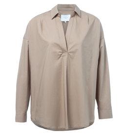 YaYa 1101109-921 Oversized shirt Sand