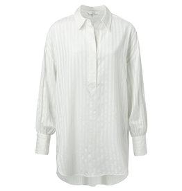 YaYa 110195-921 long blouse striped print white
