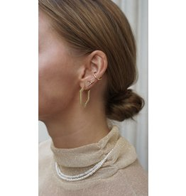 Eline Rosina Hexagon hoops in gold plated sterling silver