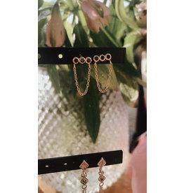 Eline Rosina Earrings bar & chain