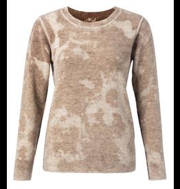 YaYa 1000339-023 Sweater inside out chocolat