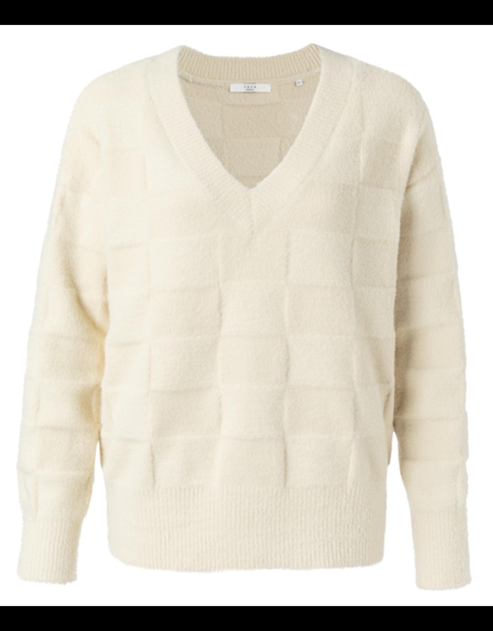 YaYa 1000350-023 V-neck sweater cream