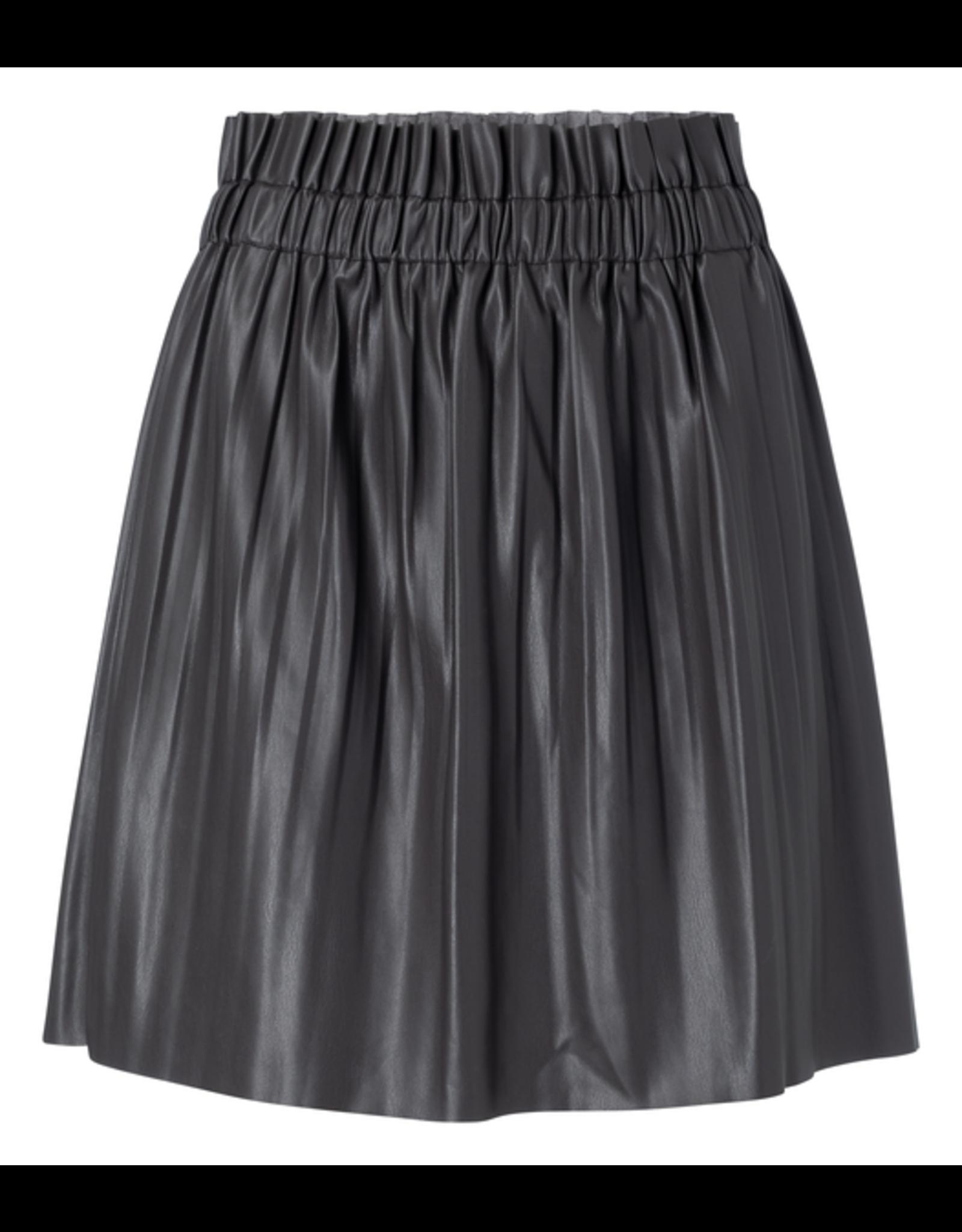 YaYa 1409109-023 Vegan Leather skirt Panthom