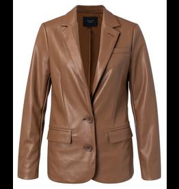 YaYa 162919-023 Vegan Leather jacket pecan