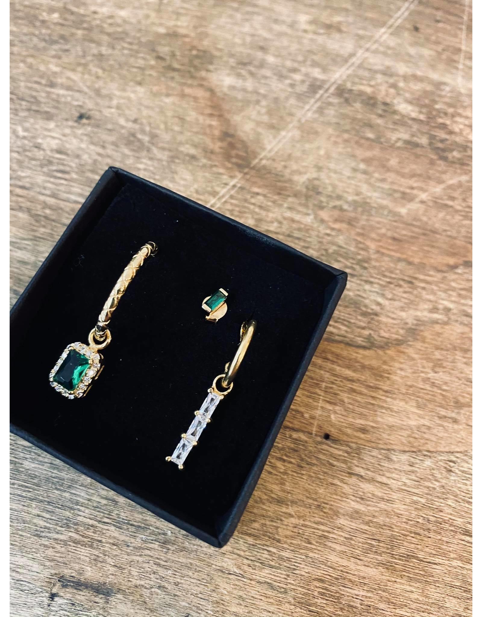 Eline Rosina Emerald collection Single Pendant Square