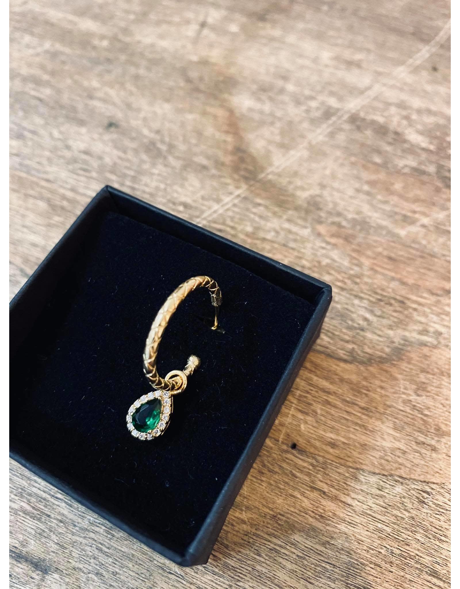 Eline Rosina Single Pendant druppel Emerald
