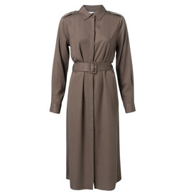YaYa 1801179-924 Jurk greyish brown
