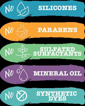 No silicons, no sulfates, no parabens