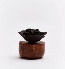 Ceramic flower perfume diffuser - Rose Bengale