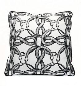 """Liv & Dols Pillow """"Snake pit"""" - 48 x 48 cm"""