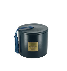Côté Bougie Mint & Tea scented candle in blue green terracotta jar – S