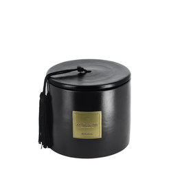 Côté Bougie Dates scented candle in black terracotta jar – S