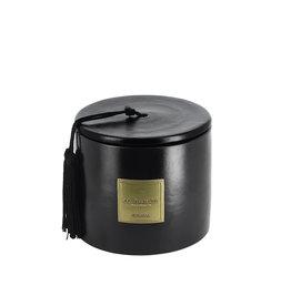 Côté Bougie Dates scented candle in black terracotta jar – L