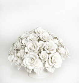 White porcelain eternal rose bouquet