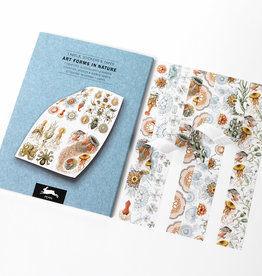 Pepin Press Art forms in nature label, sticker & tape books, 32 sheets