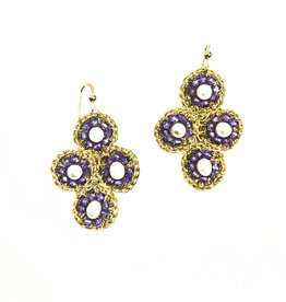 Agata Treasures Palermo amethyst and pearl earrings