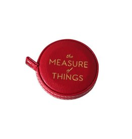 Sloane Stationary Red measuring tape - vegan leather