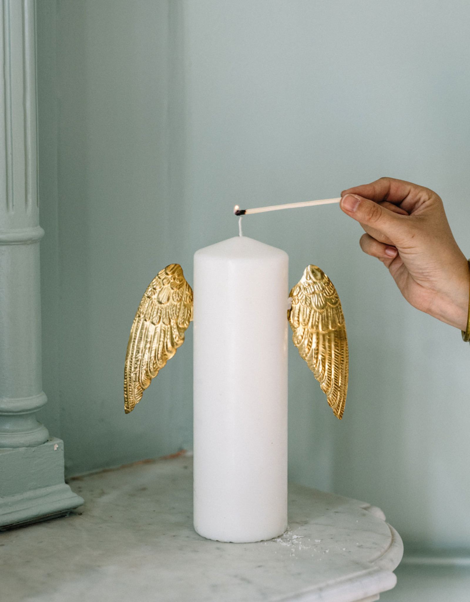 Wings candle decoration box, 1 pair