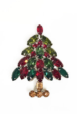 Vintage christmas tree brooch by Napier