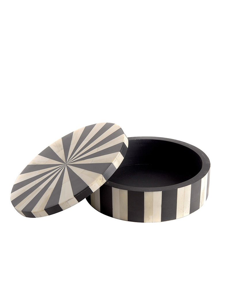 Bone box circle, black & white