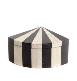 Bone box 1/4 quadrant black & white