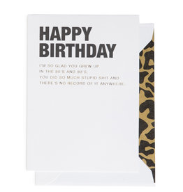 Cardsome Happy birthday card -80s and 90s