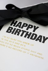 Cardsome Happy birthday card  - 80s and 90s