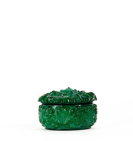 Vintage green glass box