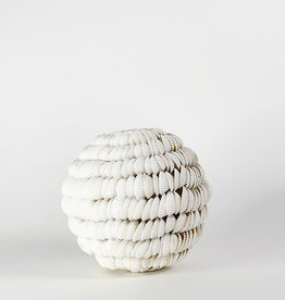 Vintage White shell sphere