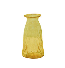 Small yellow glass vase