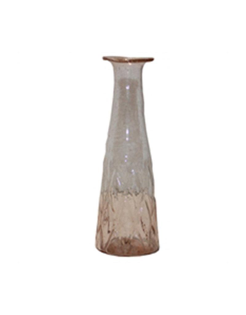 Light pink glass vase