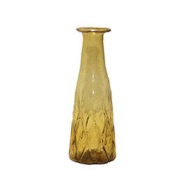 Yellow glass vase